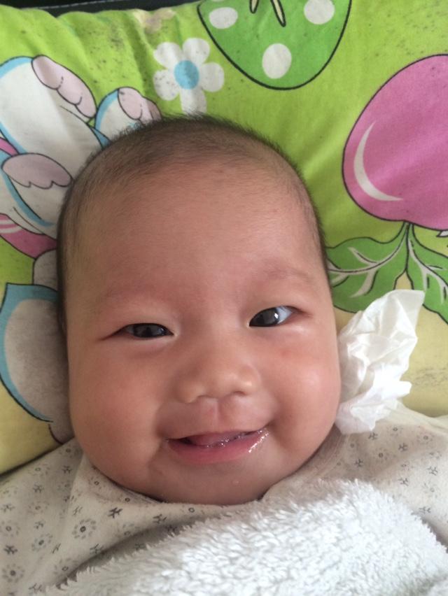 宝宝五个月了,四个月的咳嗽肺炎住院点滴六天