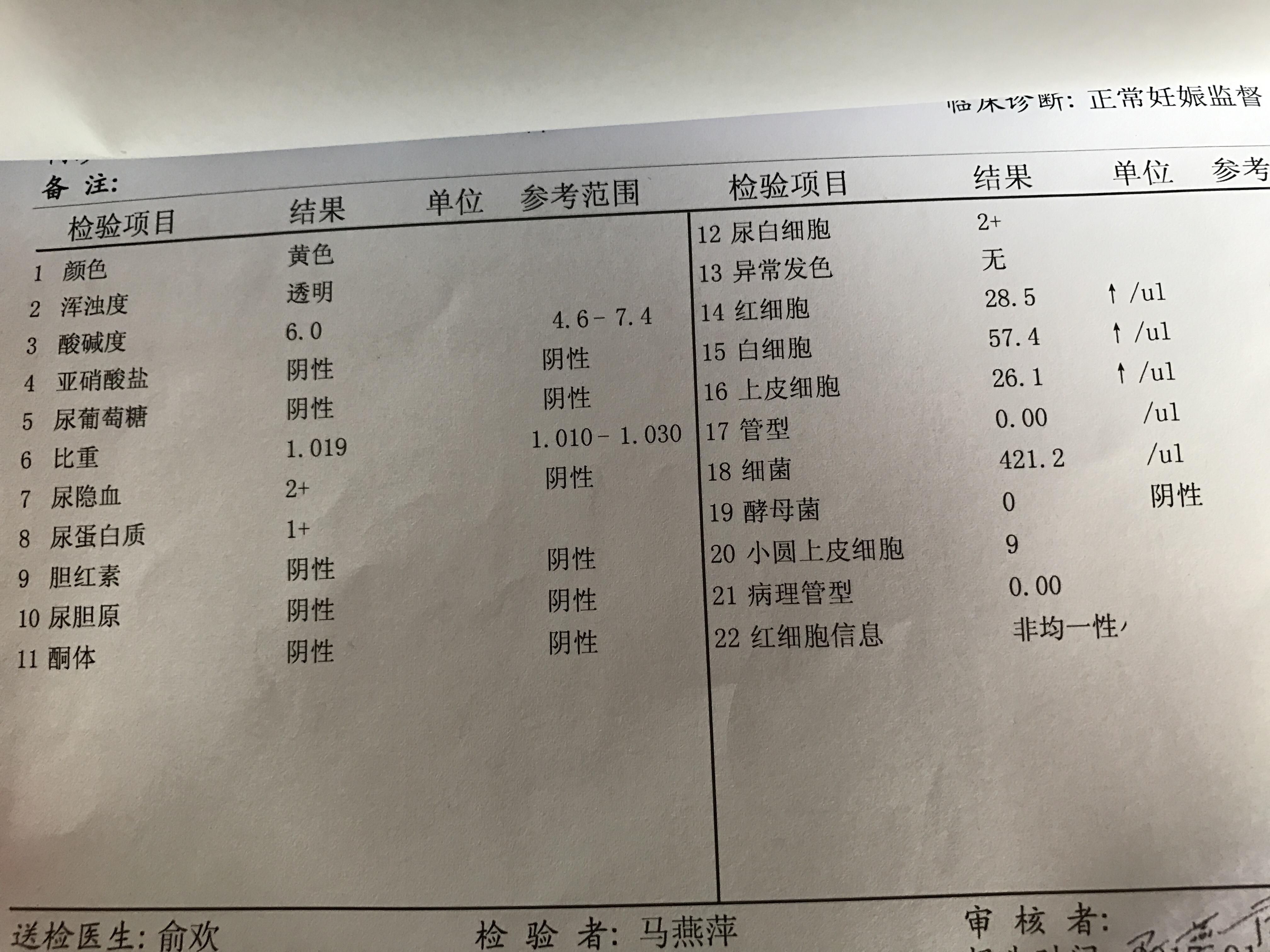 尿常规检查尿隐血2加,尿蛋白质1加,红细胞越来